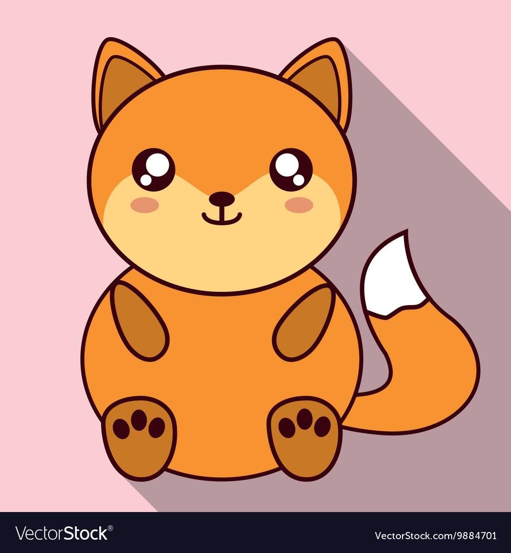 Uncategorized Kawaii Fox kawaii fox icon cute animal graphic royalty free vector image