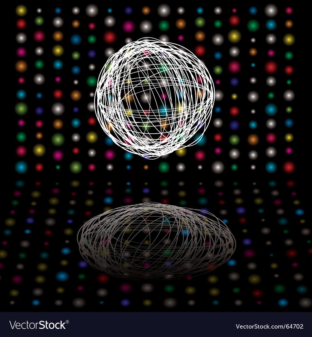 Disco scribble vector image