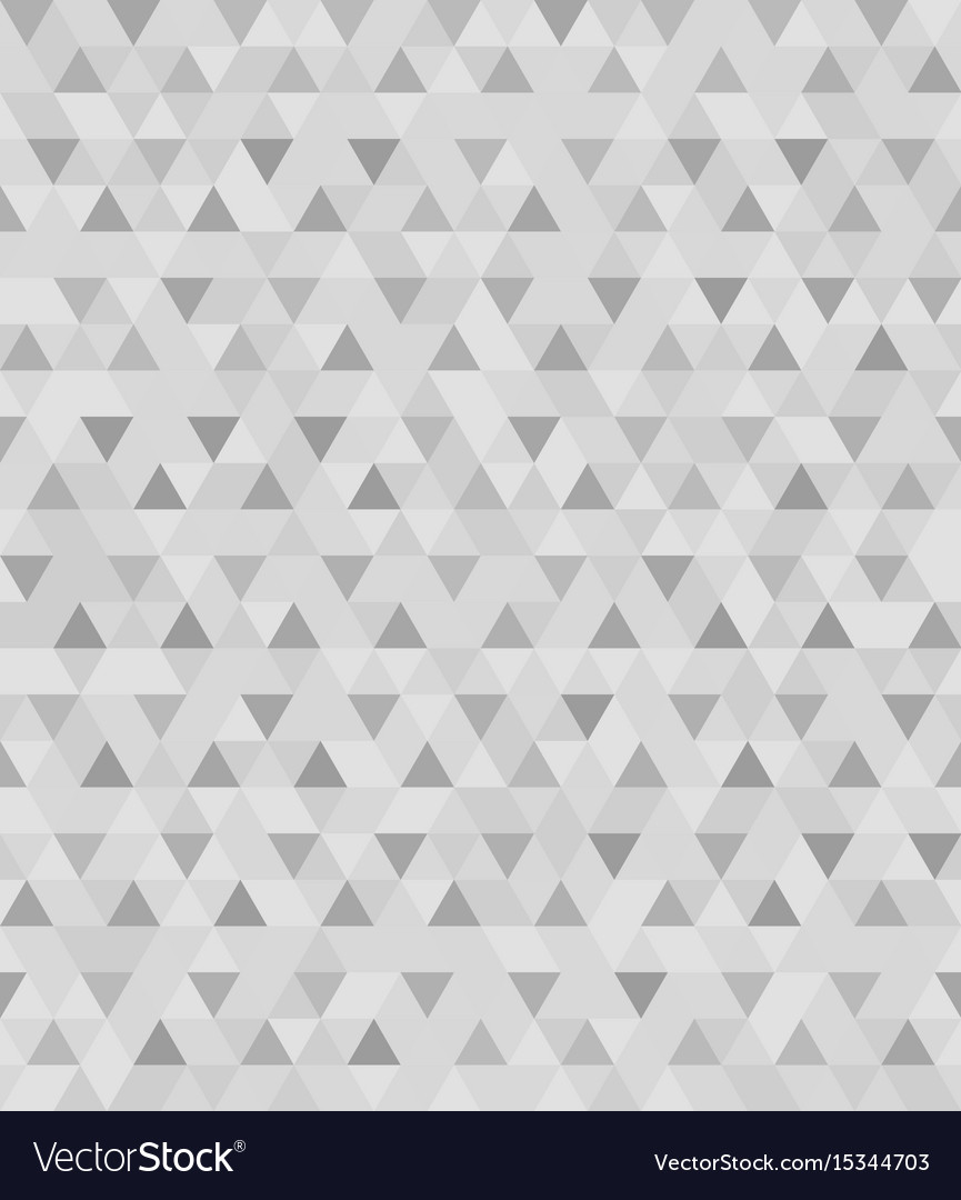 Gray triangle pattern seamless background vector image