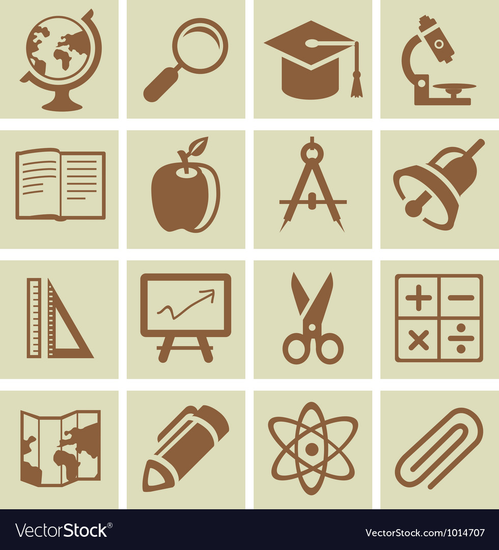 Design elements for school and university vector image