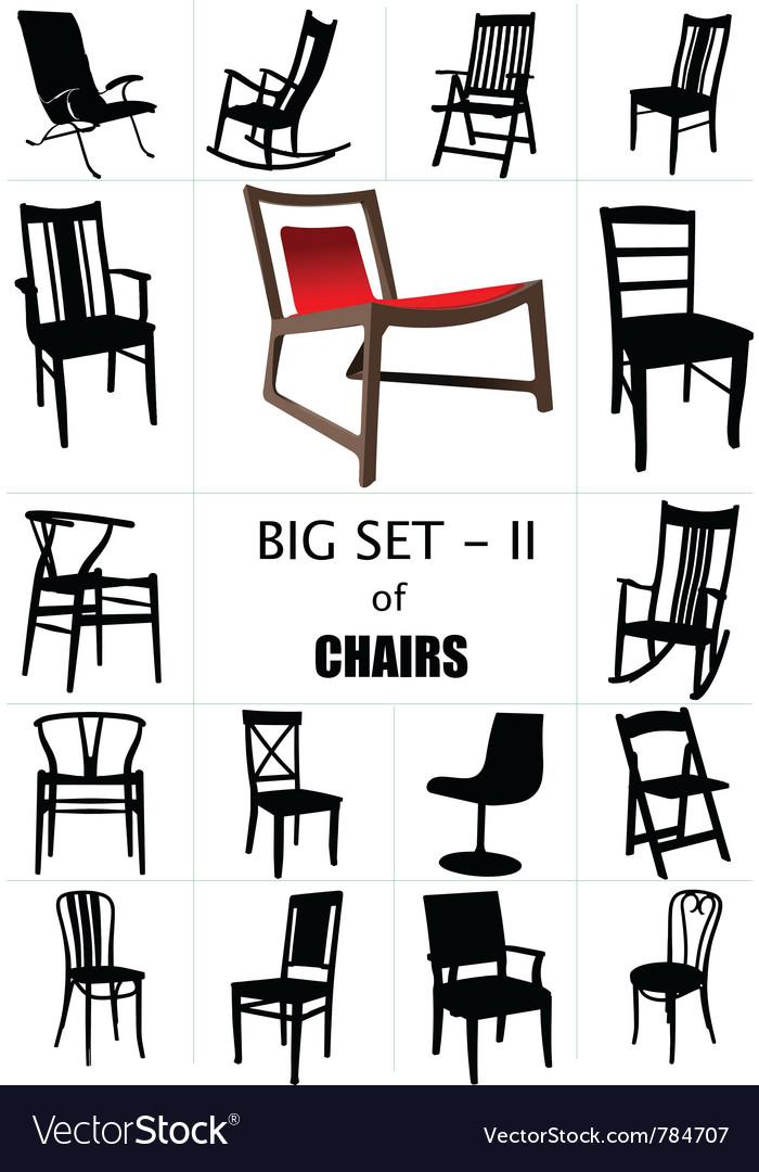 Designer chair set vector image