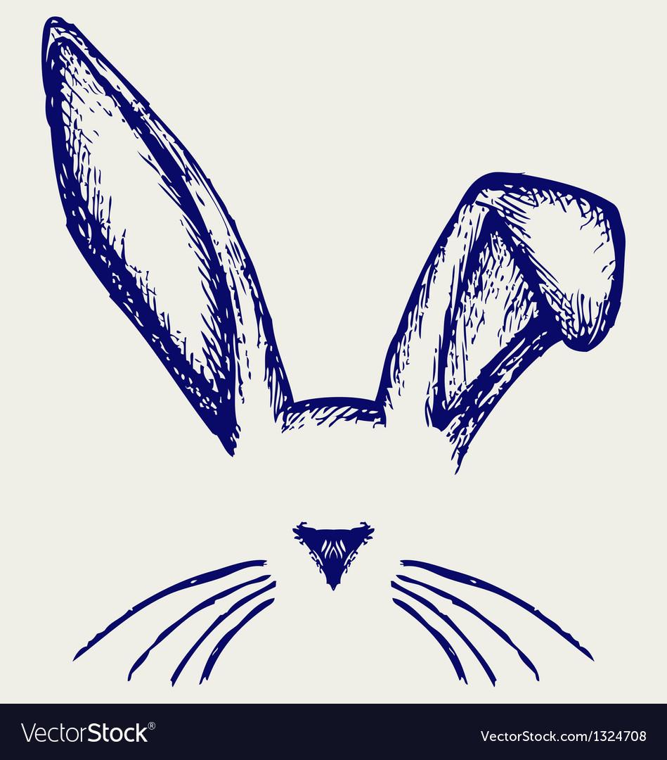 Easter bunny ears Royalty Free Vector Image - VectorStock