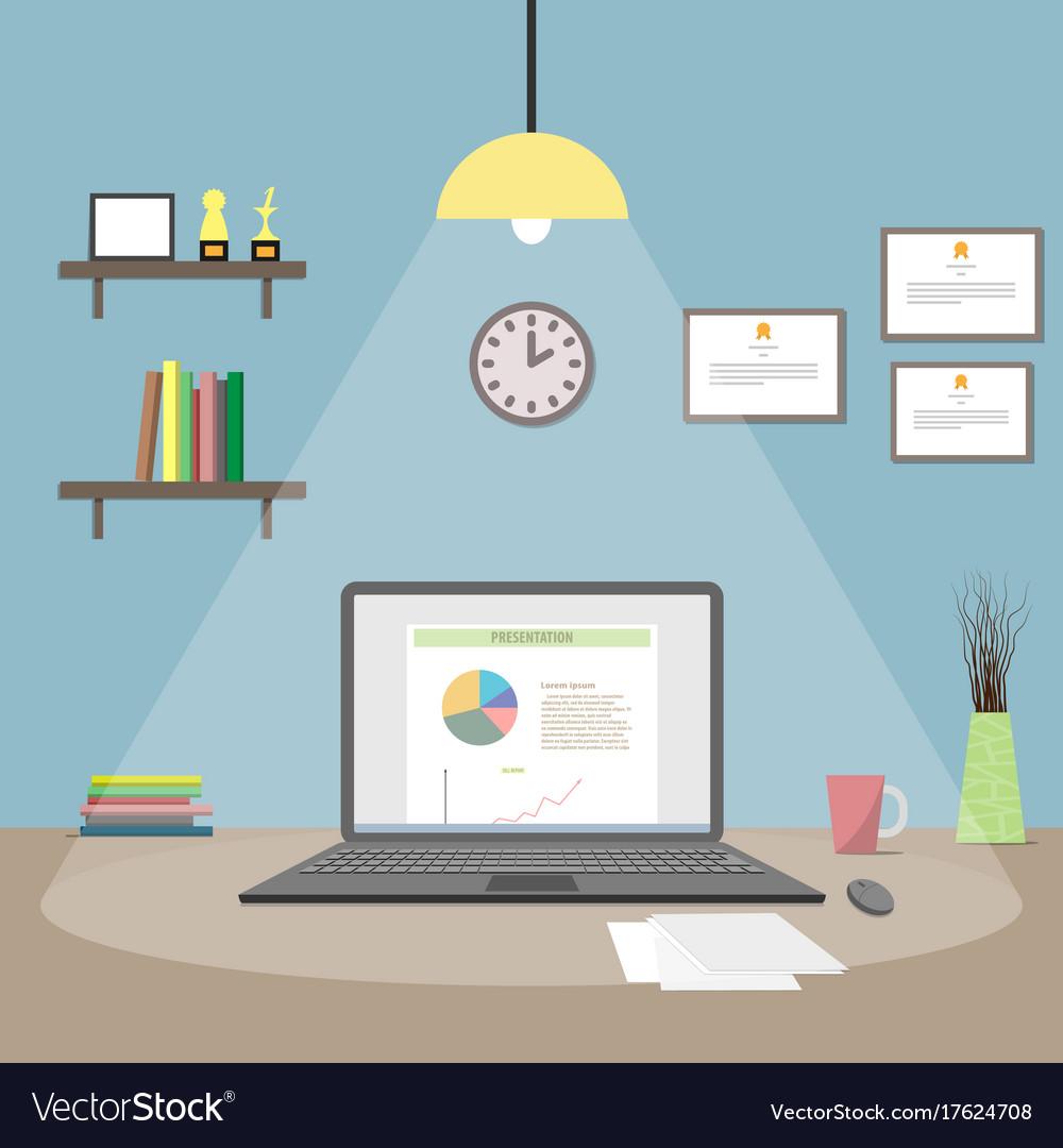 Notebook flat design vector image