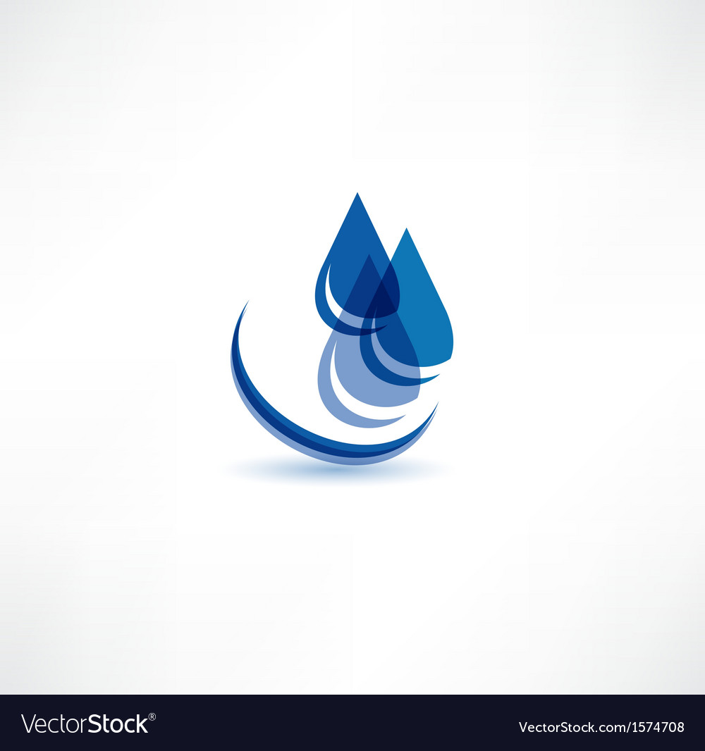 Water drop symbol royalty free vector image vectorstock water drop symbol vector image biocorpaavc Image collections