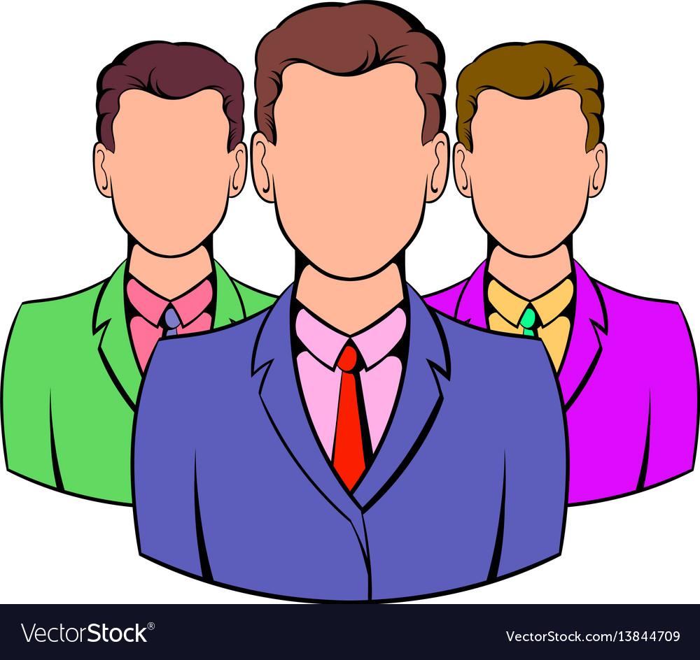 Business team icon cartoon vector image