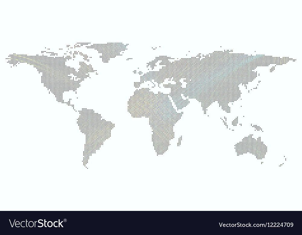 Colorful background with dotted world map vector image gumiabroncs Image collections