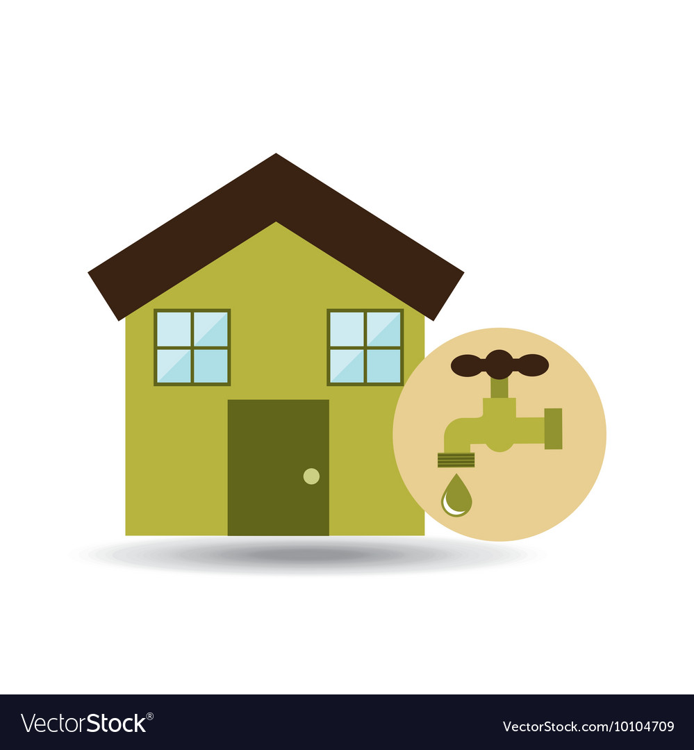 Ecology House Icon Vector Image