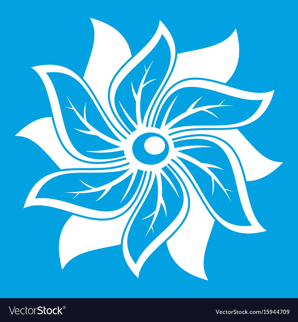 Flower icon white vector image