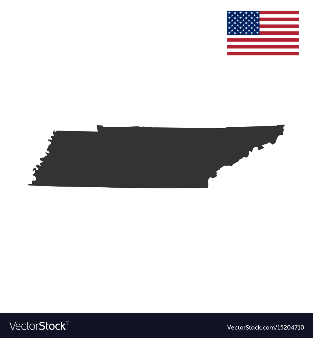 Map of the us state of tennessee vector image