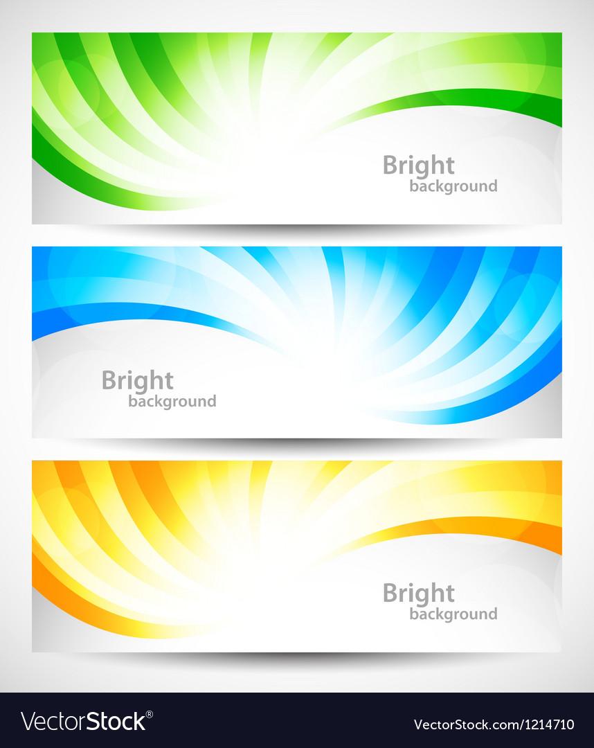 Set of swirl banners vector image