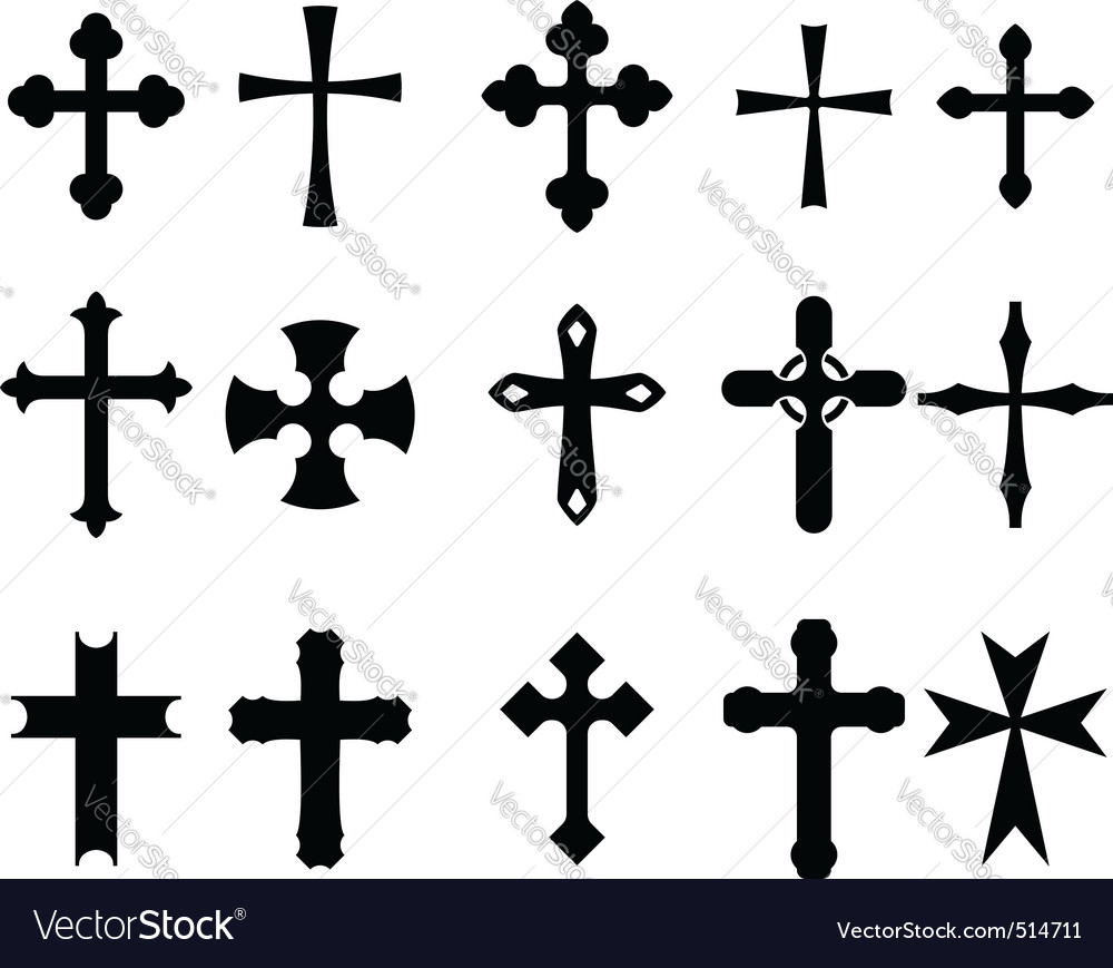Cross symbols vector image