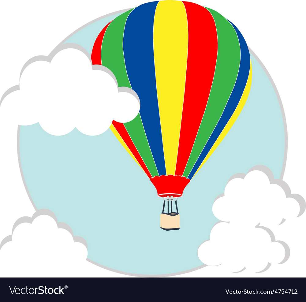 Balloon in the sky vector image