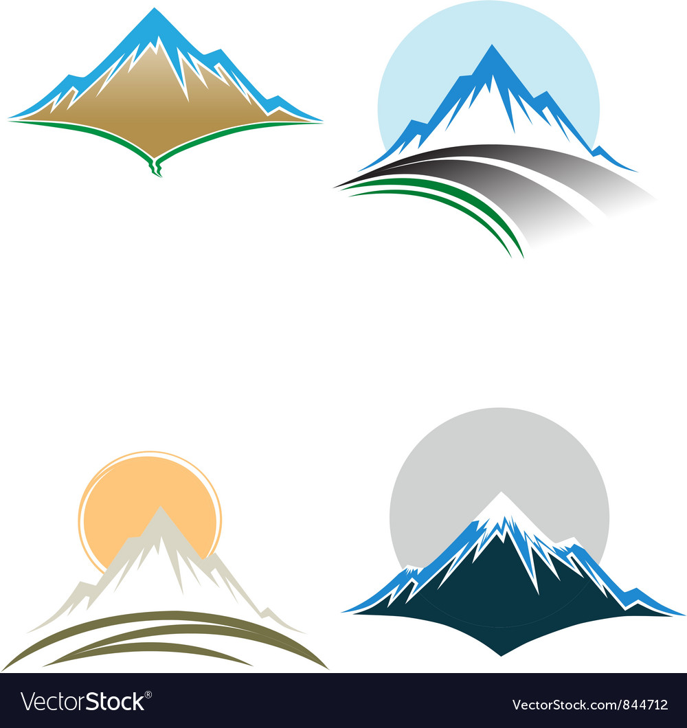 Mountain tops vector image