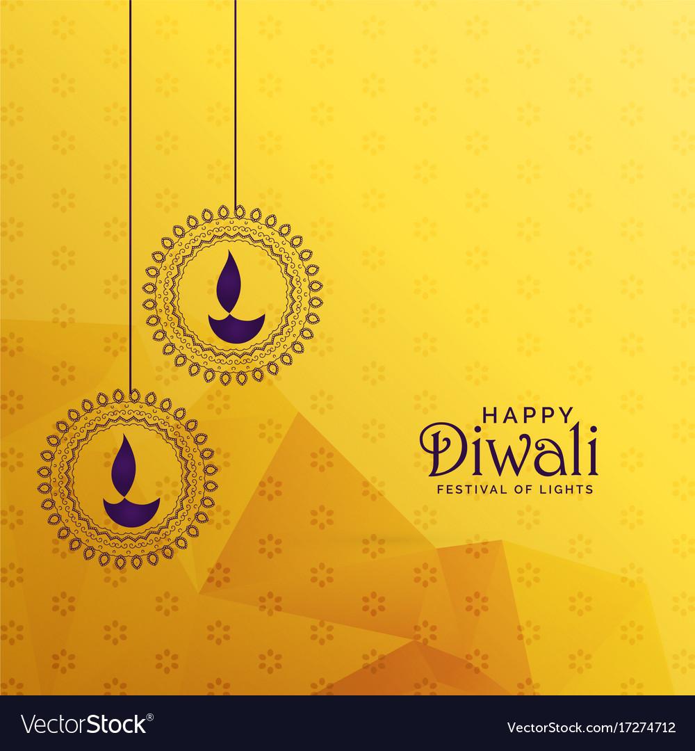 Premium diwali greeting card design with diya vector image premium diwali greeting card design with diya vector image kristyandbryce Choice Image