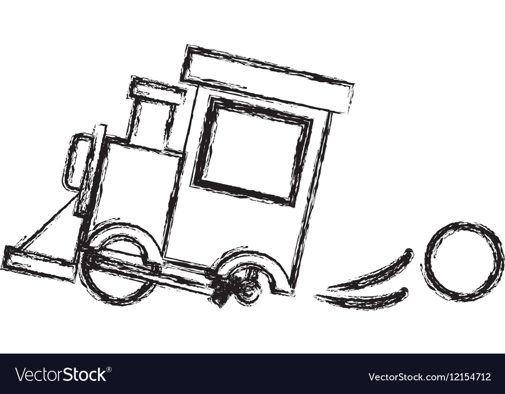 Toy train damaged design vector image