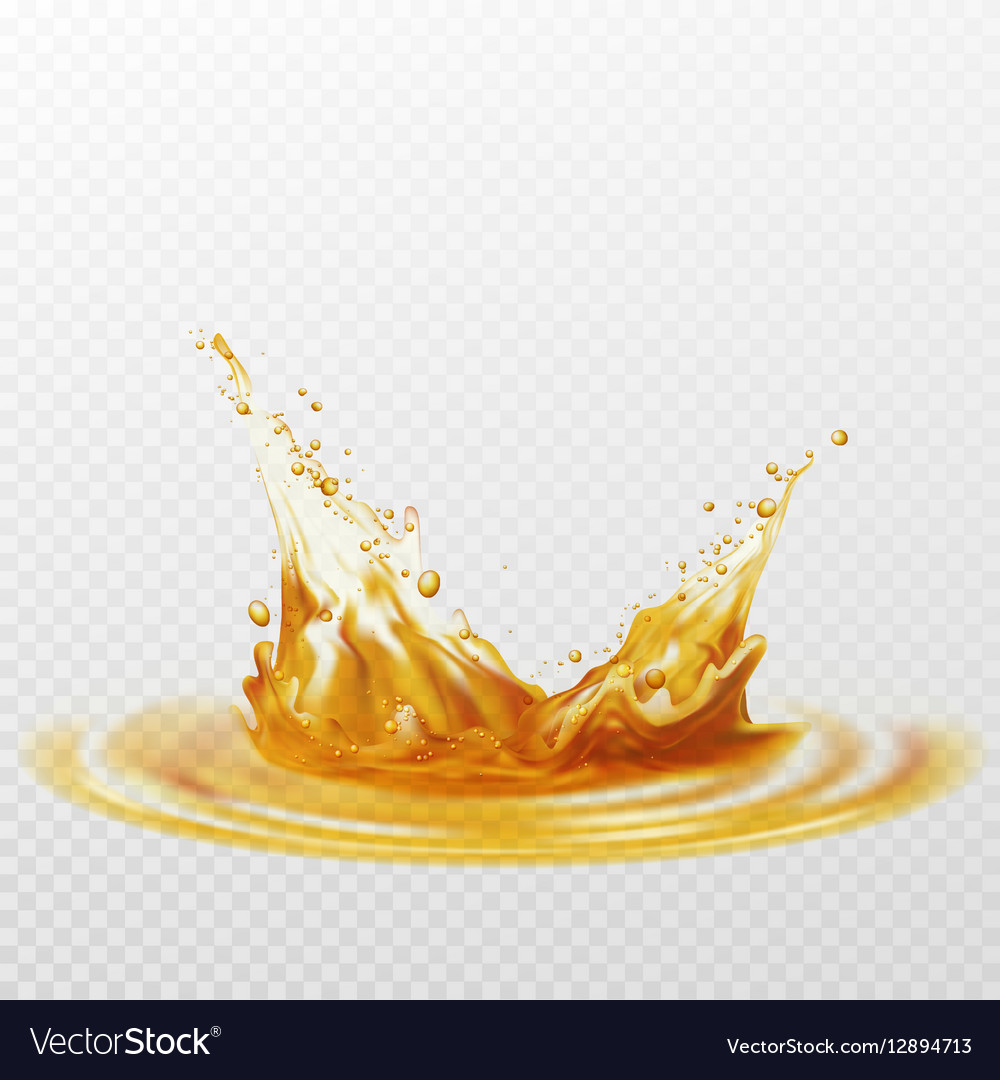 Beer foam splash of white and yellow color on a vector image