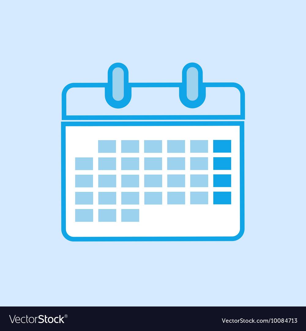 Calendar Icon Simple Blue vector image