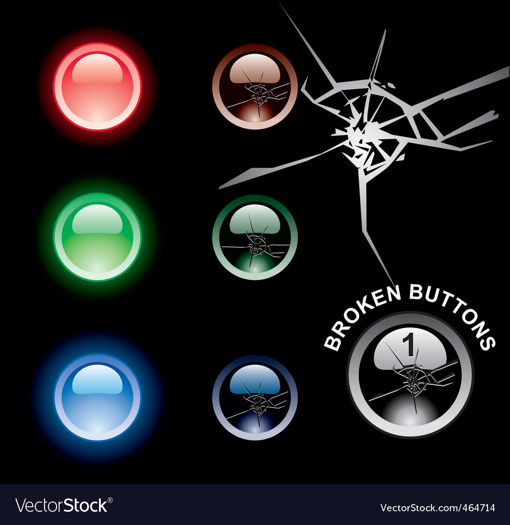 Broken buttons vector image