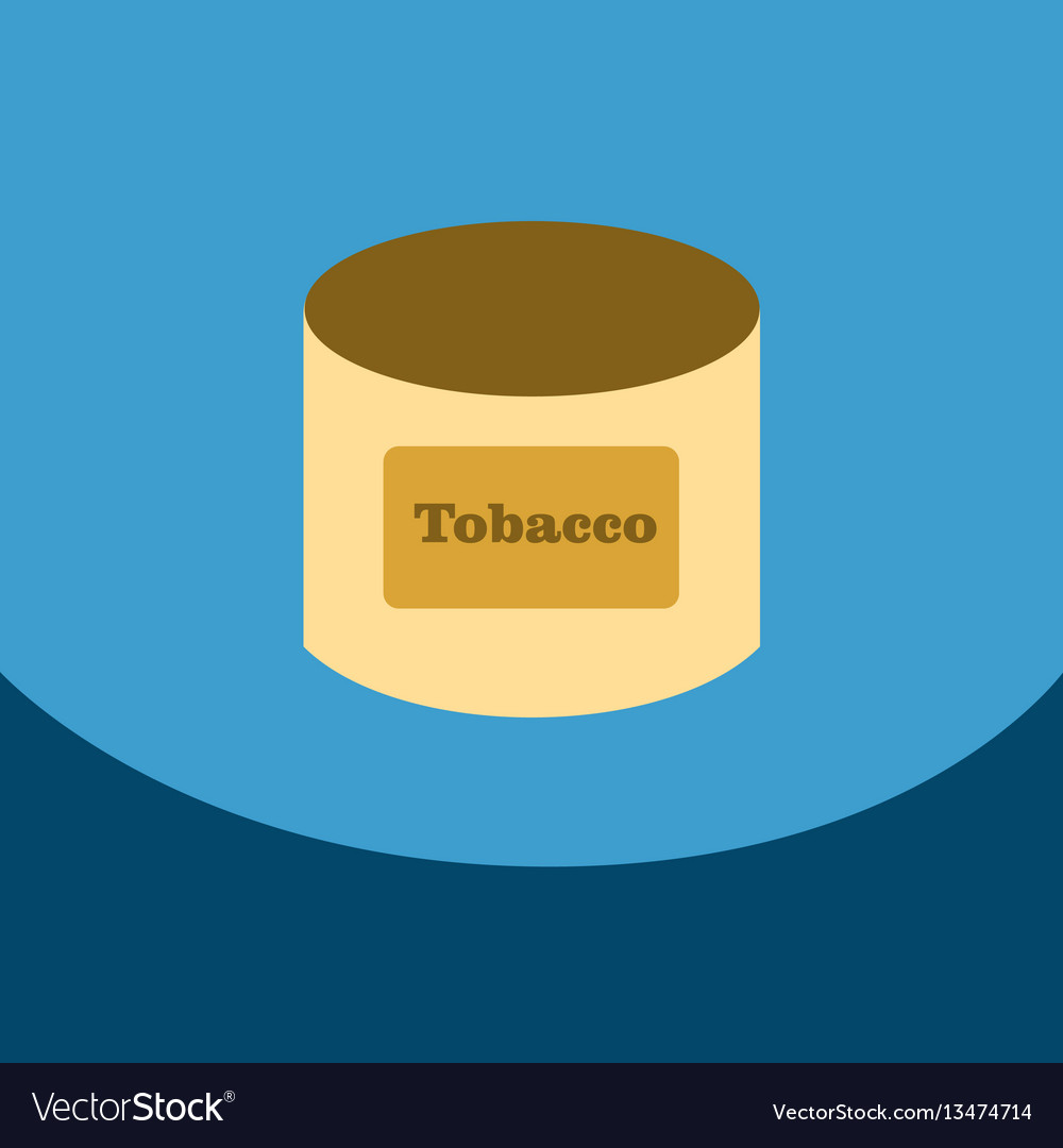 Flat icon with dark shadow tobacco for shisha in vector image