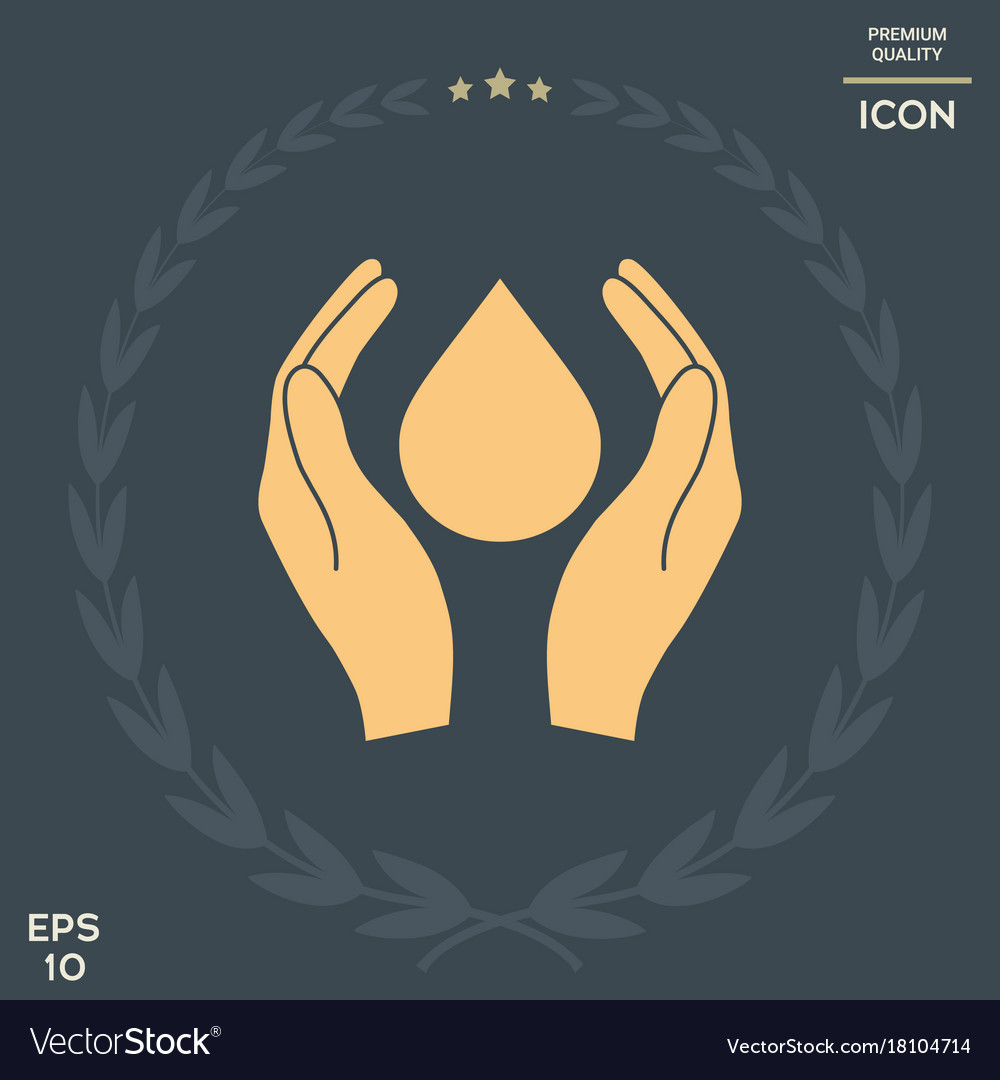 Hands holding drop protection symbol royalty free vector hands holding drop protection symbol vector image biocorpaavc