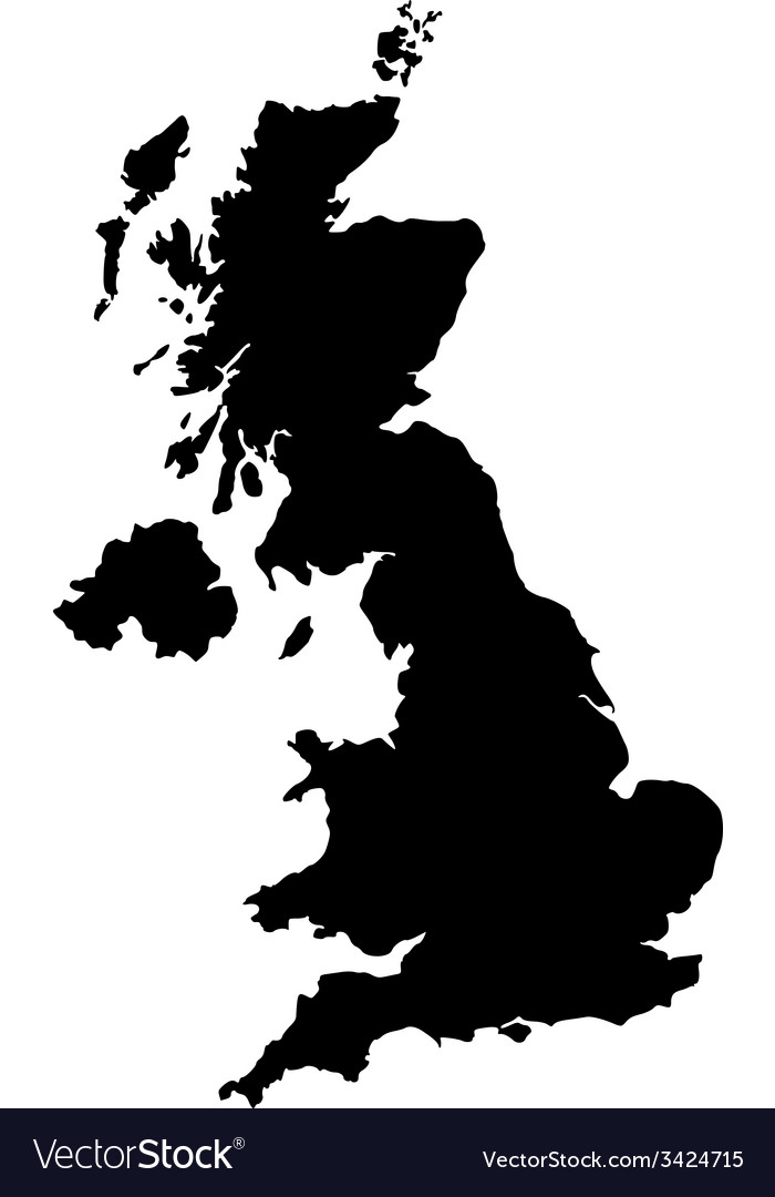 Map Of United Kingdom Royalty Free Vector Image - United kingdom map vector