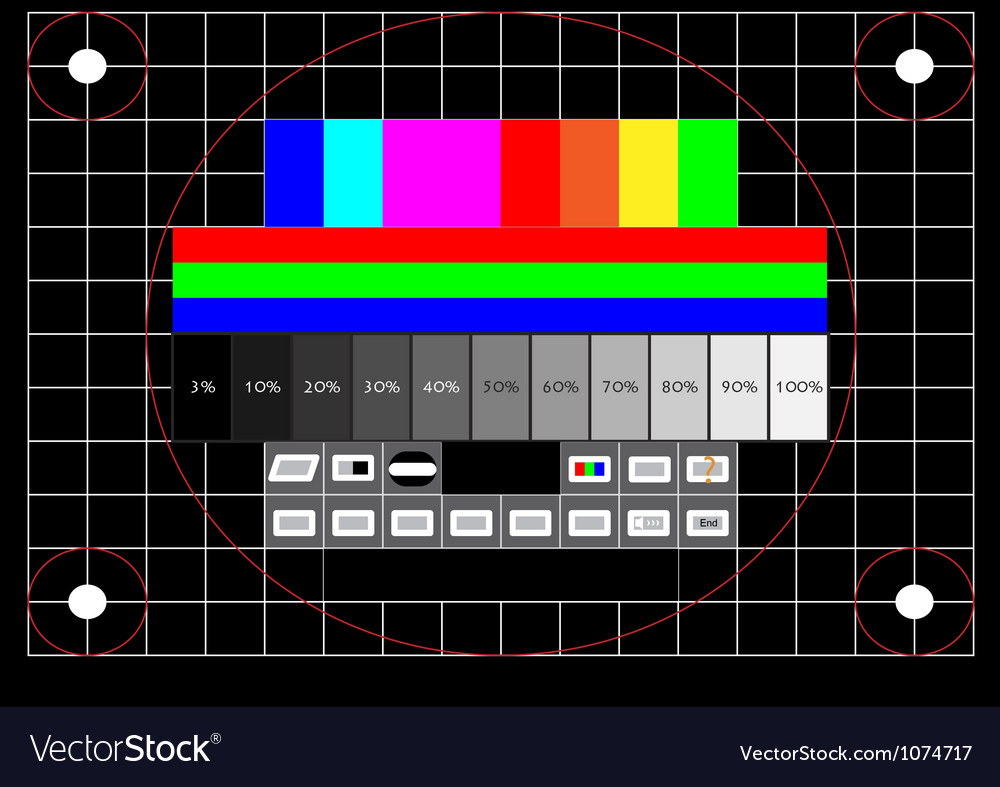 Television test screen vector image