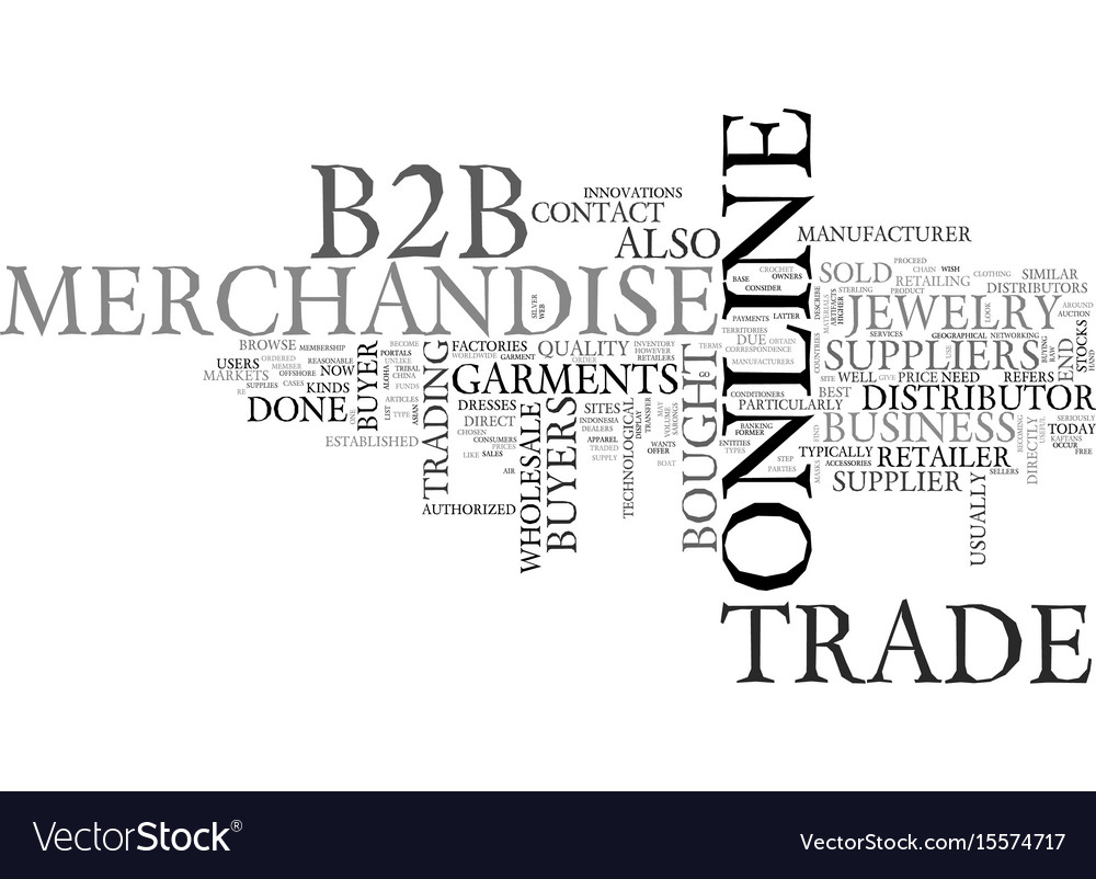 Bb garments and jewelry markets text word cloud vector image