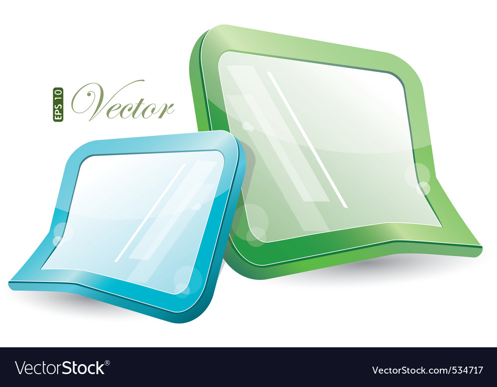 Green and blue form vector image