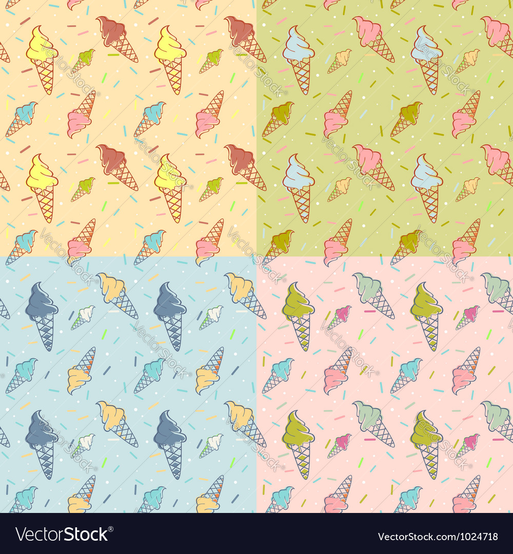 Seamless Ice Cream Wallpaper Royalty Free Stock Images: Colorful Melting Ice-cream Seamless Royalty Free Vector