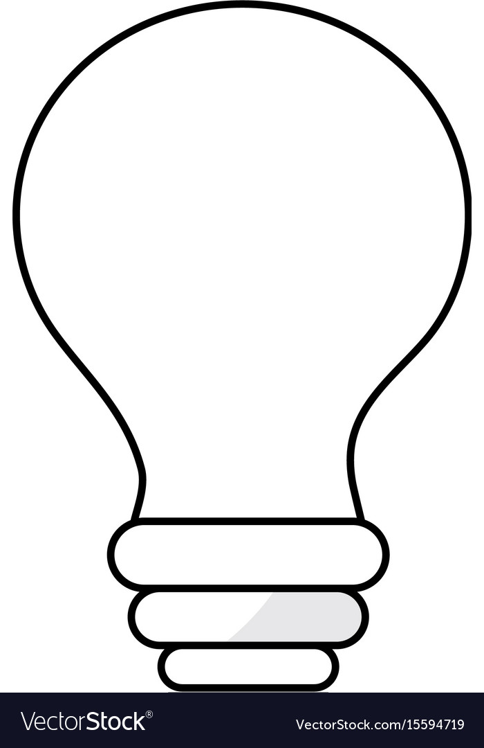 Line electricity bulb innovation to illuminated of vector image