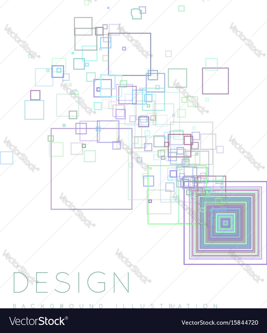 Background of the squares in a modern style vector image