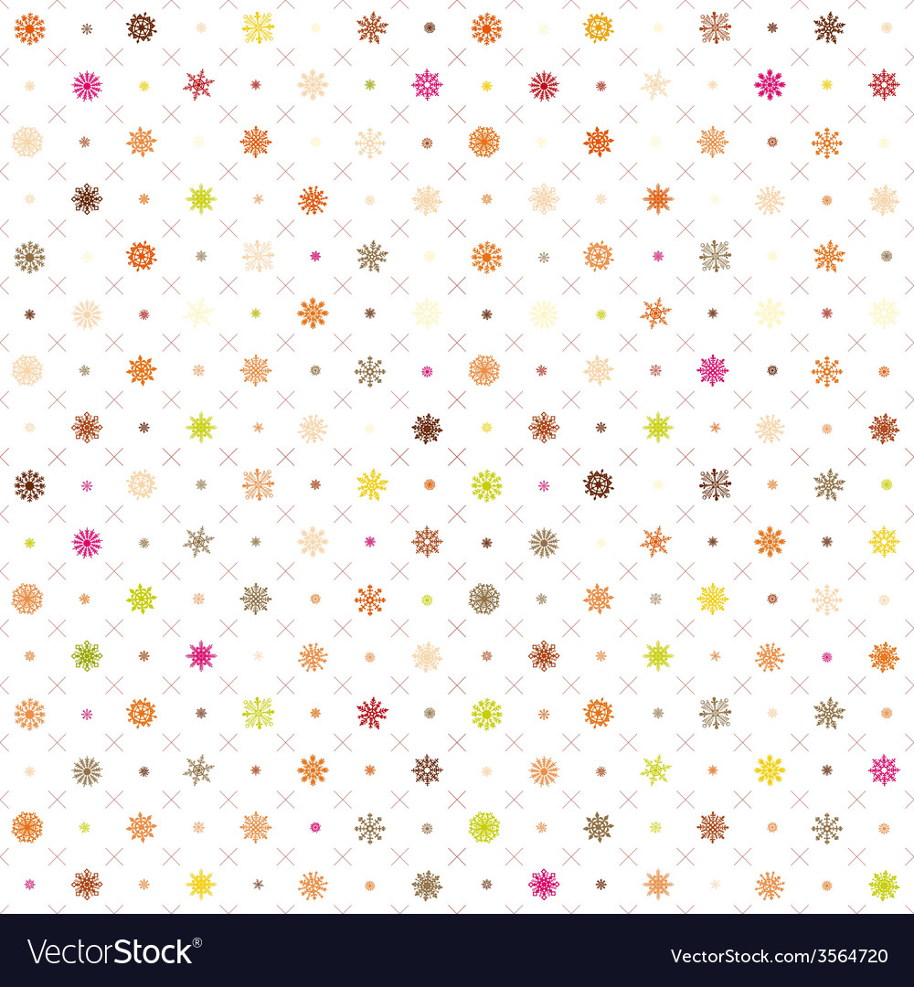 Pattern seamless wrapping wallpaper snowfall vector image