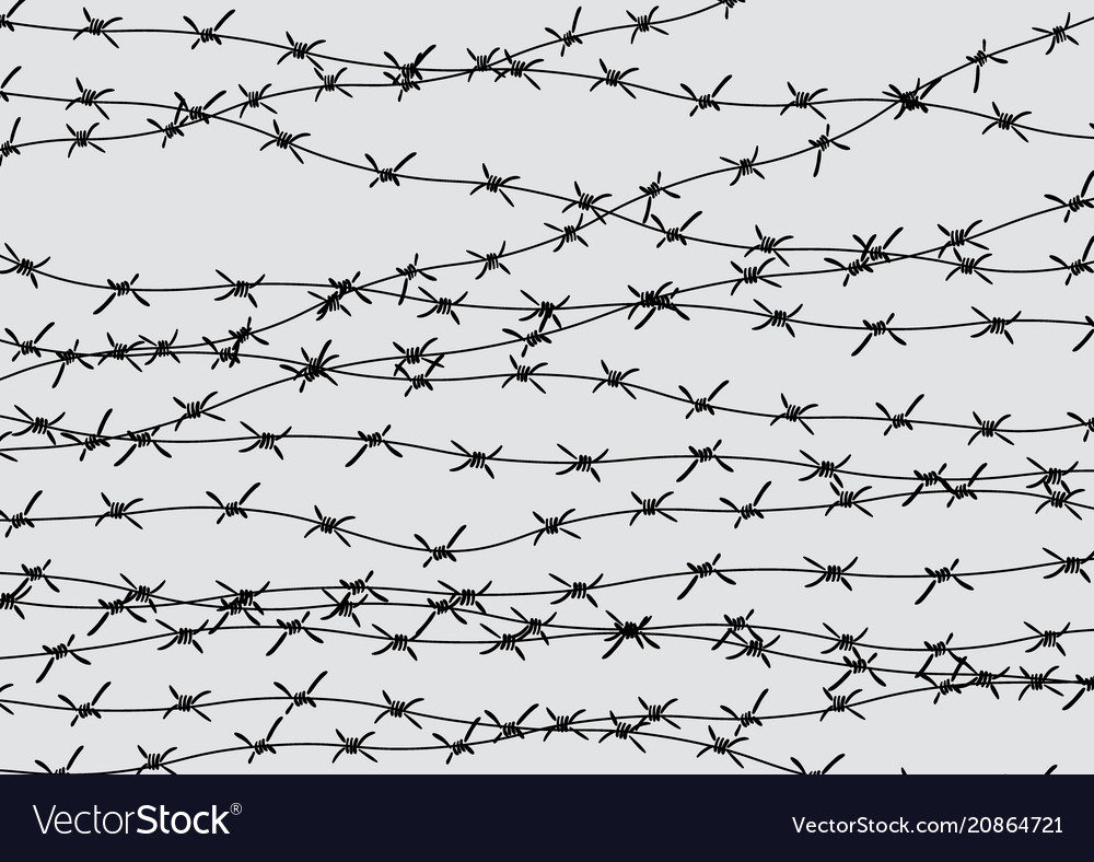 Barbed wire fencing fence made of wire with Vector Image