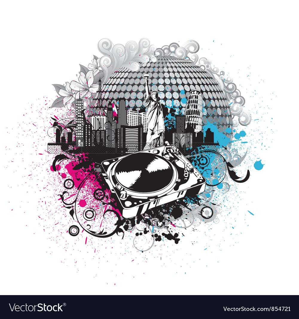 Concert poster vector image