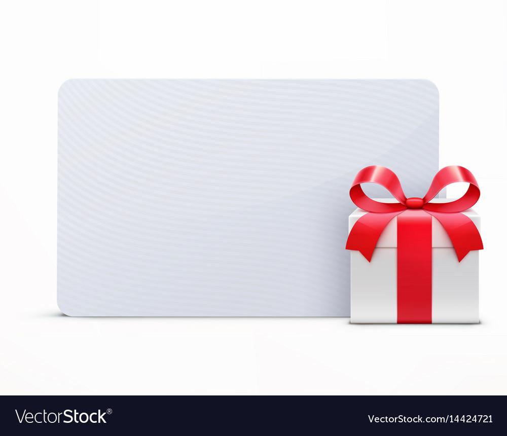 Glossy gift box vector image