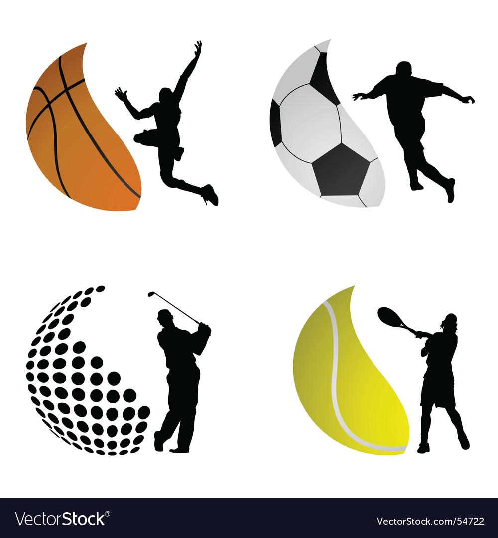 Sport symbols Vector Image