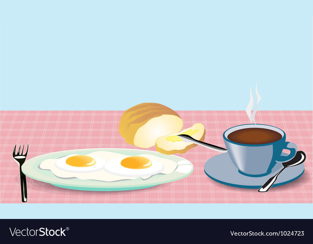 Morning Breakfast vector image