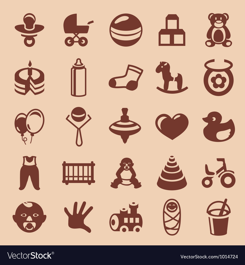 Design elements for children and kids vector image