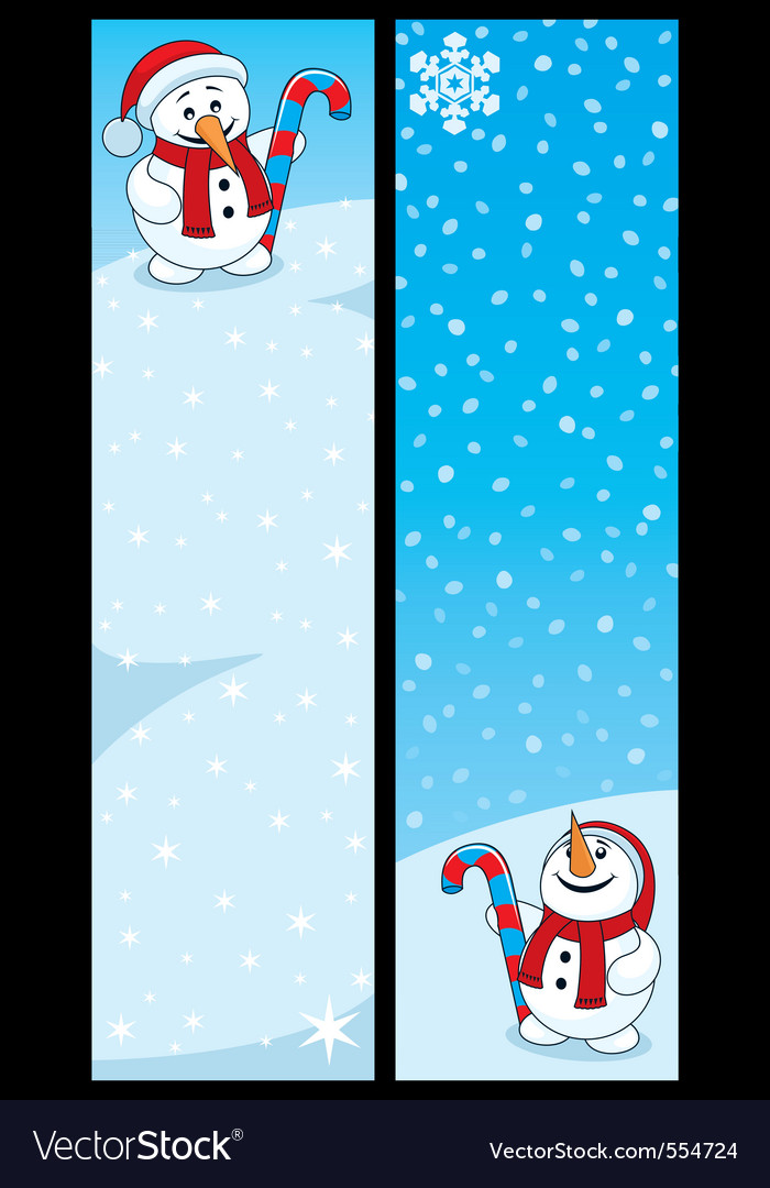 Snowman banners vector image