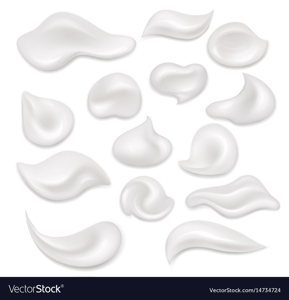White cream vector image