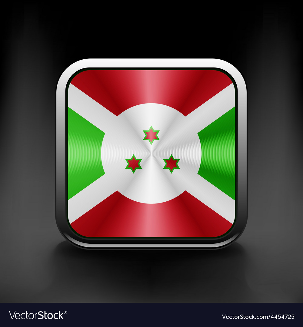 Burundi icon flag national travel icon country vector image
