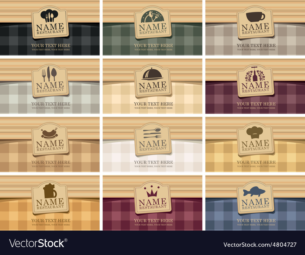 Business card food vector image