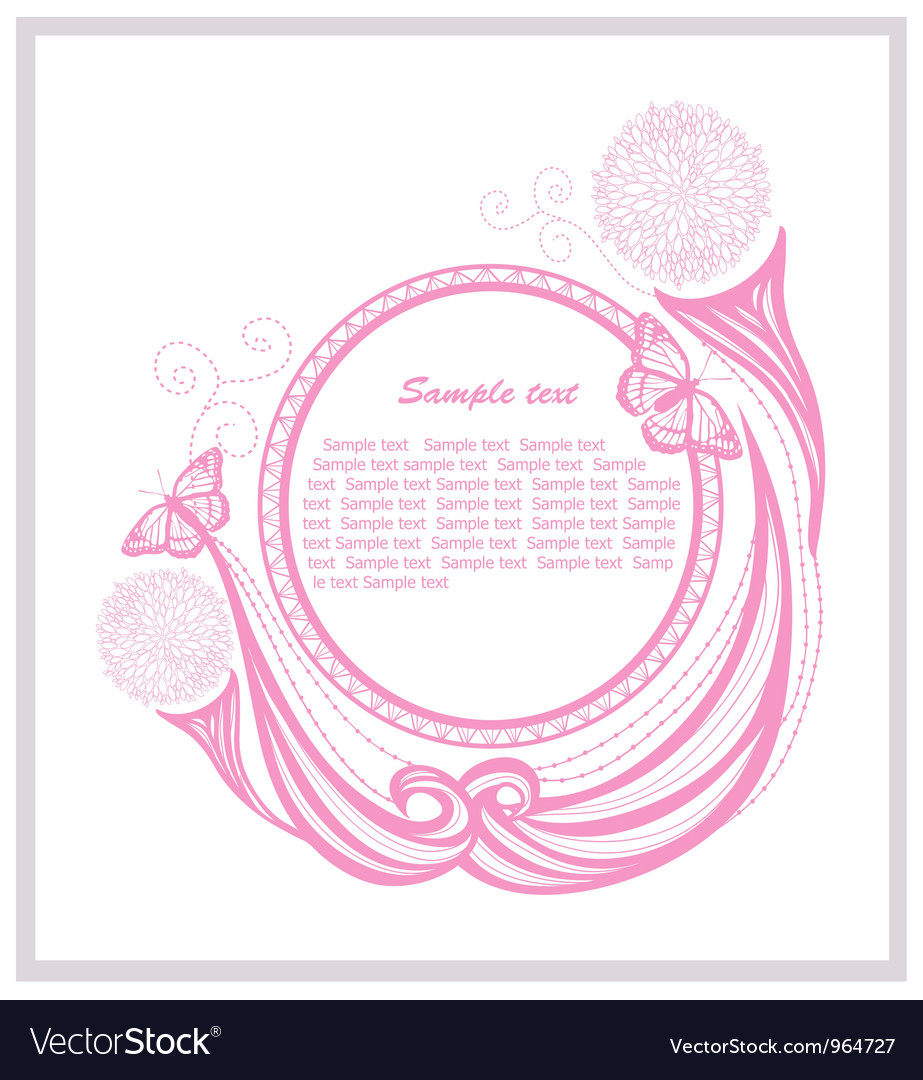 Invitation template with floral elements vector image invitation template with floral elements vector image stopboris Image collections
