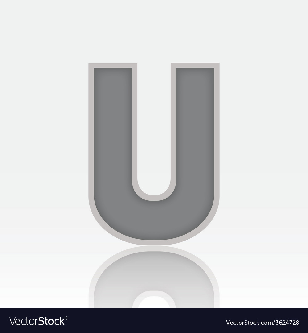 Alphabet U vector image
