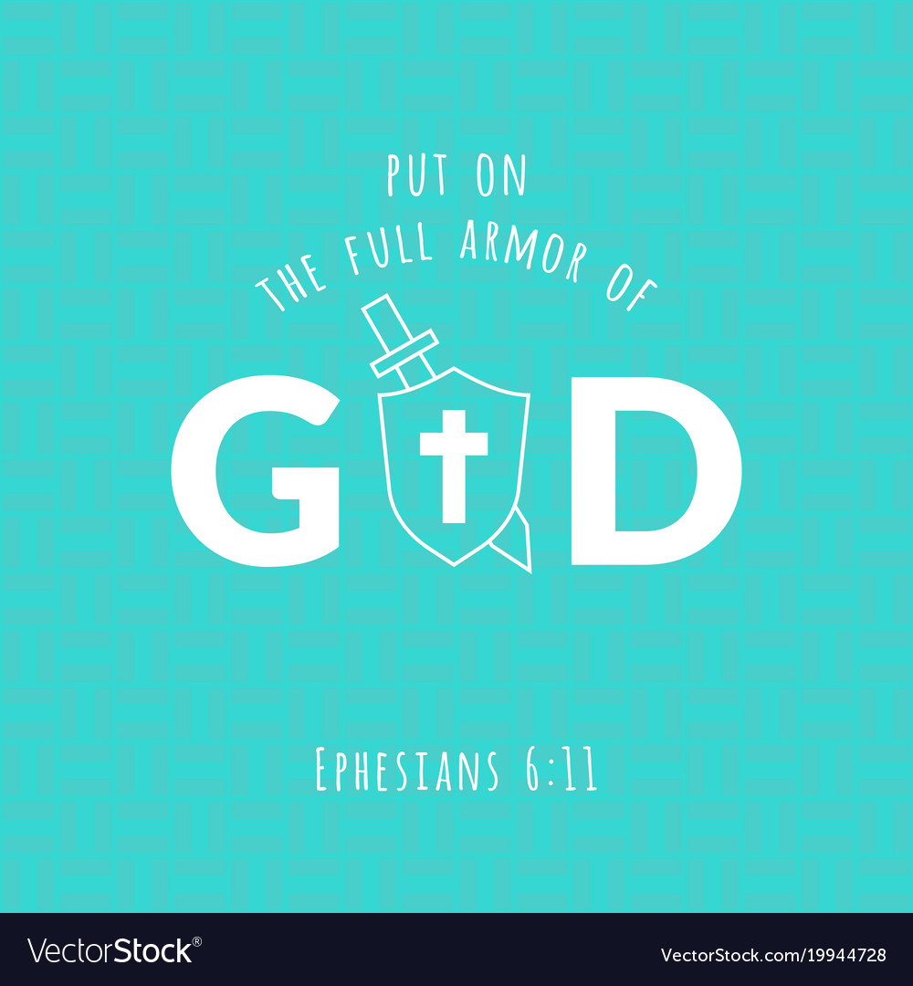 Bible verse from ephesians vector image