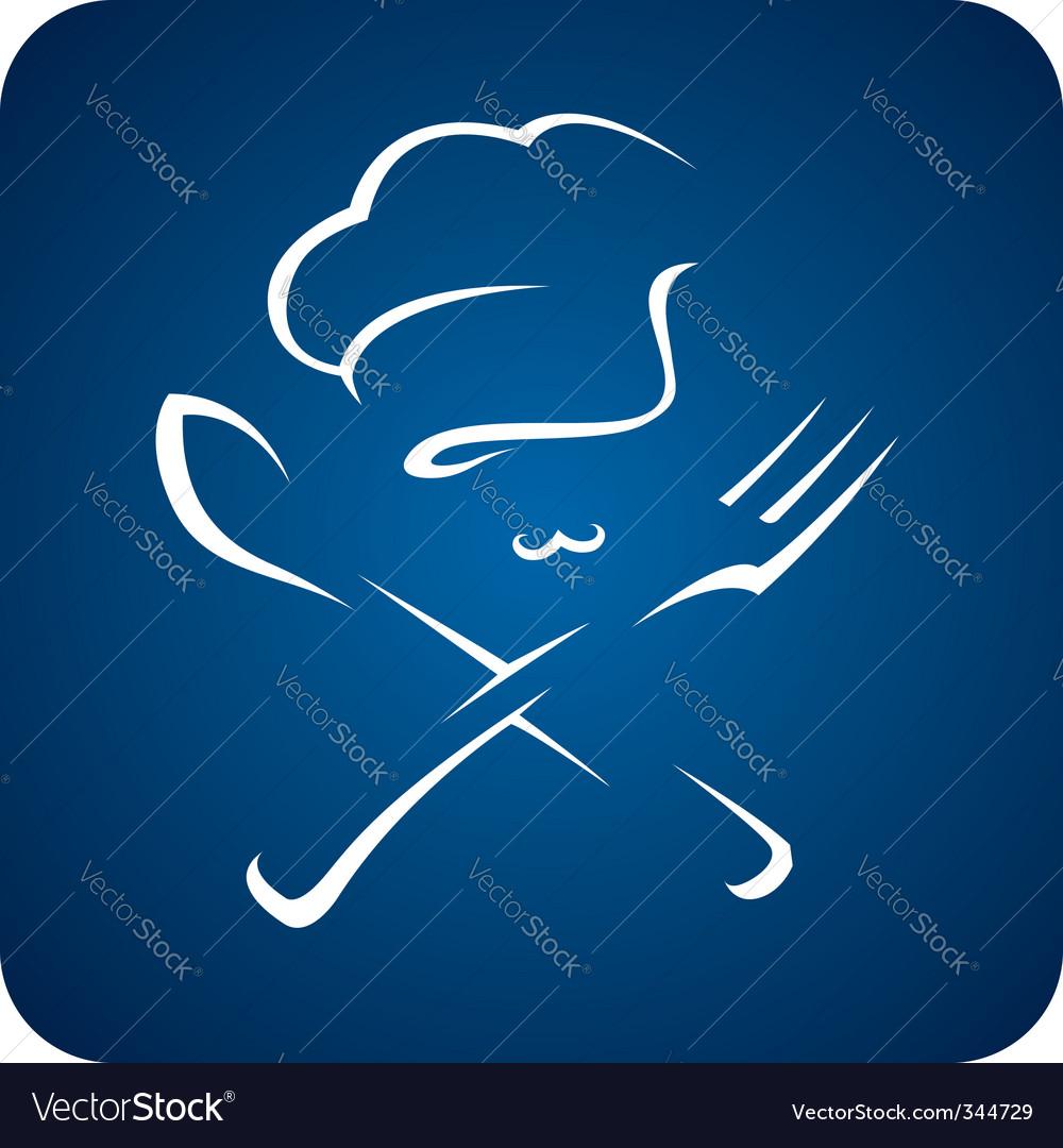 Chef hat icon vector image