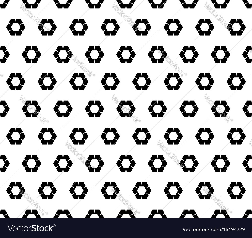 Geometric pattern rippled hexagons vector image