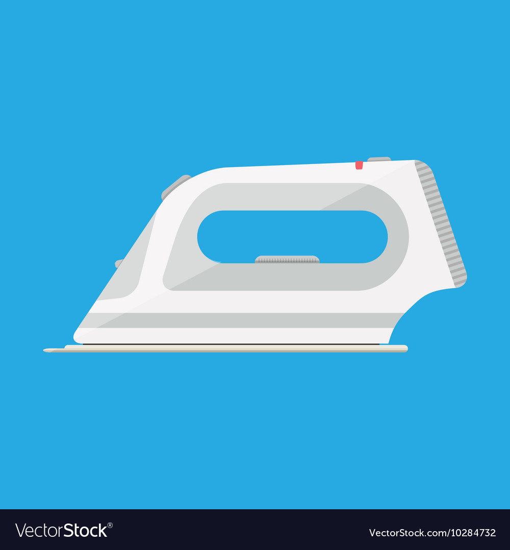 White modern clothing iron vector image
