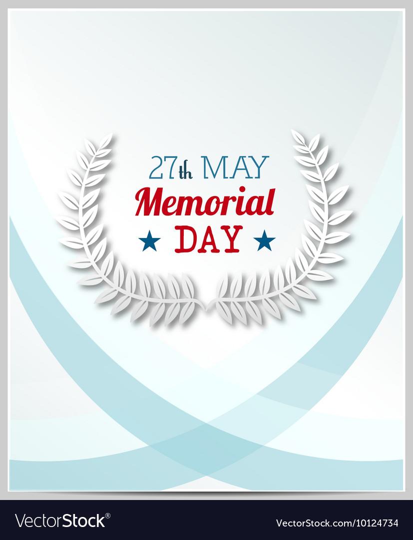Creative memorial Day Greeting stock