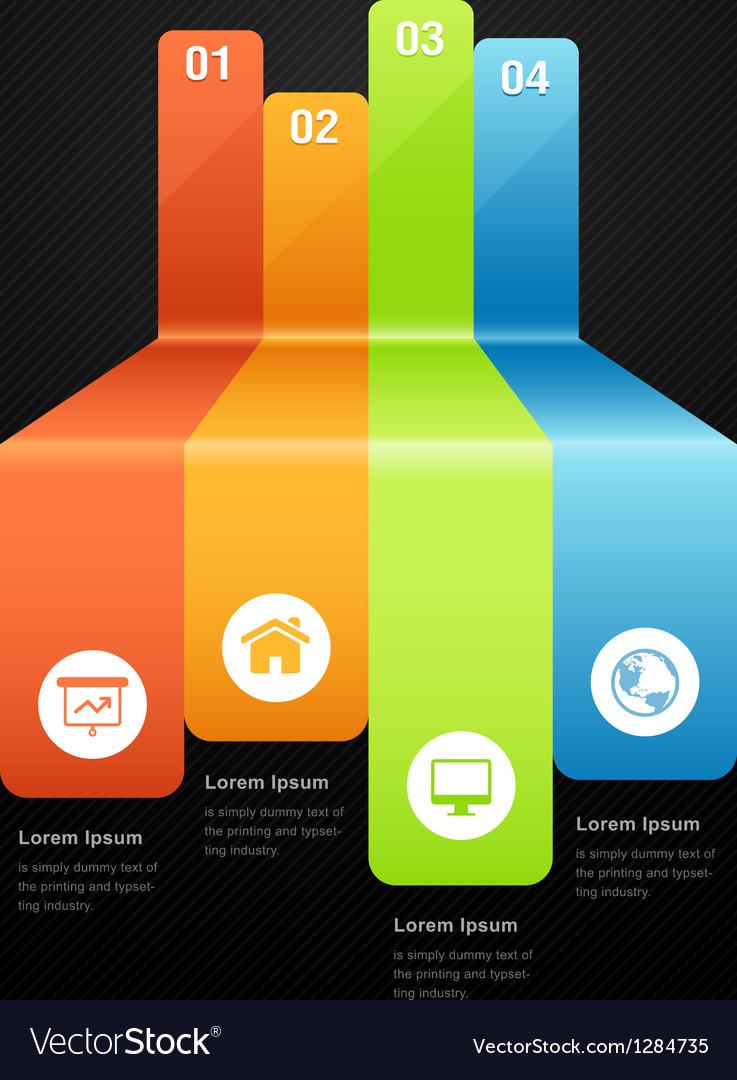 Abstract graph infografics Vector Image